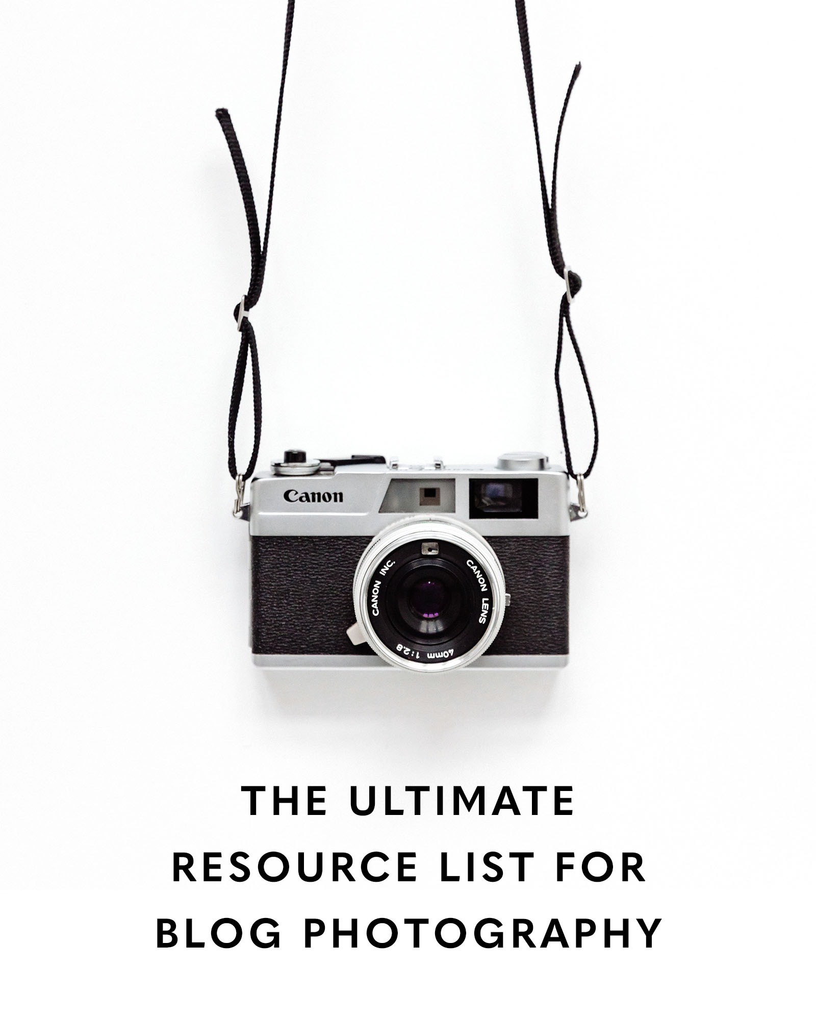 resource list for blog photography